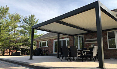 Outdoor Motorized Bioclimatic Retractable Aluminum Pergola