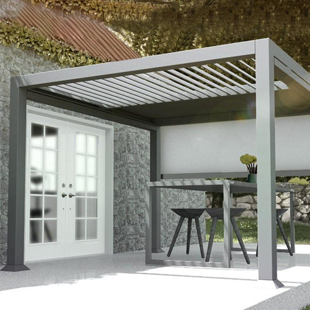 Decorative Intelligent 2mm 6063 Alu Patio Louvre Roof Gazebo Pergola
